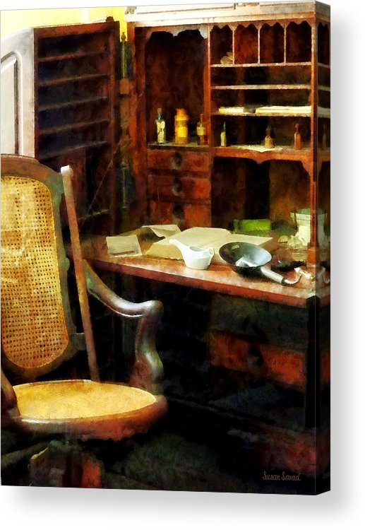 Druggist Acrylic Print featuring the photograph Doctor - Doctor's Office by Susan Savad