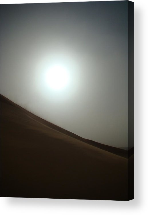 Dust Storm Acrylic Print featuring the photograph Dust Storm In The Desert by Karen j Kobrin Cohen