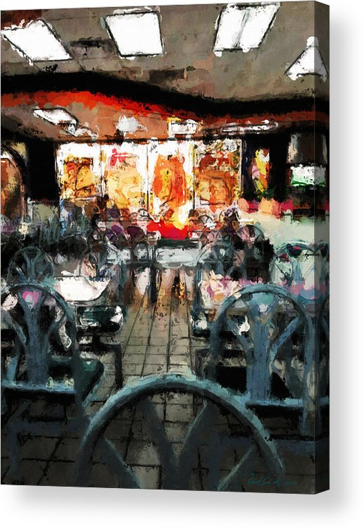 Restaurant Acrylic Print featuring the painting Empty Restaurant by Robert Smith