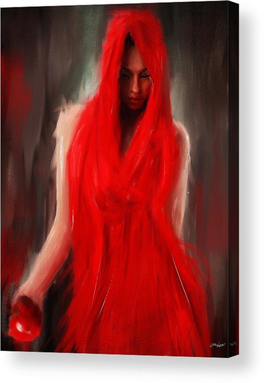 Eve Acrylic Print featuring the painting Eve Within by Lourry Legarde