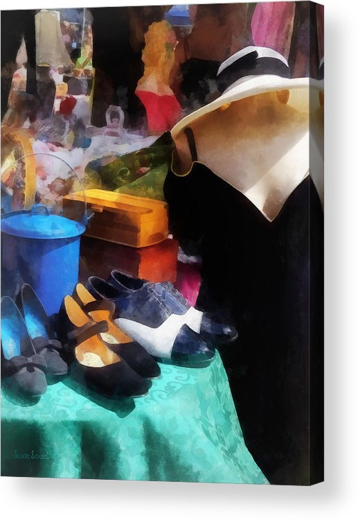 Flea Market Acrylic Print featuring the photograph Fashion - Clothing For Sale At Flea Market by Susan Savad