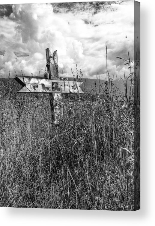 Graveyard Acrylic Print featuring the photograph Field Of Faith by The Artist Project