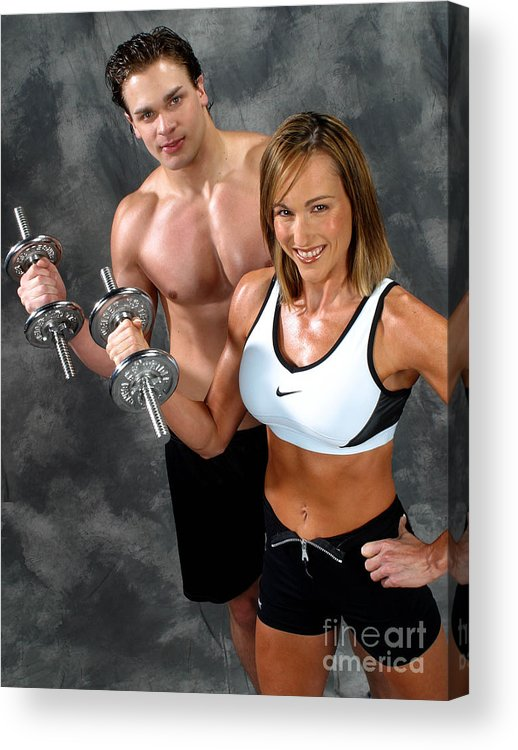 Model Acrylic Print featuring the photograph Fitness Couple 17-2 by Gary Gingrich Galleries