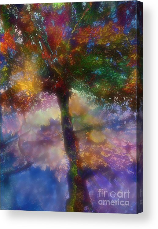 Abstract Acrylic Print featuring the digital art Flavours Of Autumn by Klara Acel