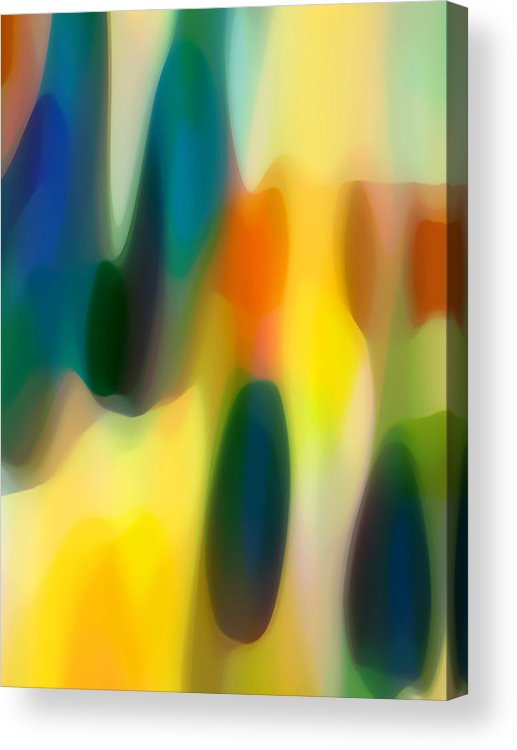 Bold Acrylic Print featuring the painting Fury Rain 5 by Amy Vangsgard