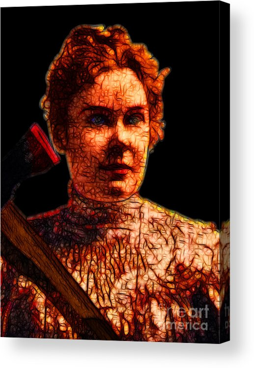 Lizzie Bordon Acrylic Print featuring the photograph Gave Her Father Forty Whacks - Black by Wingsdomain Art and Photography