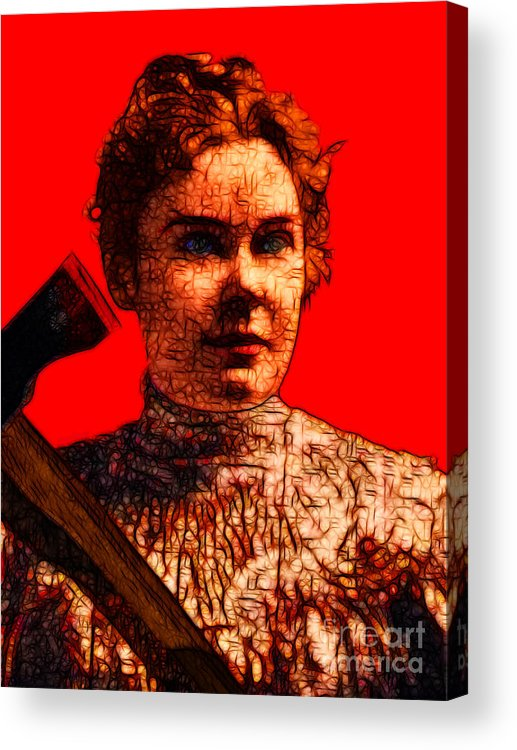 Lizzie Bordon Acrylic Print featuring the photograph Gave Her Father Forty Whacks - Red by Wingsdomain Art and Photography