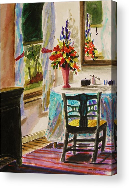 Watercolor Acrylic Print featuring the painting Gentle Light by John Williams