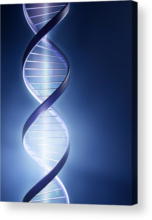 Dna Acrylic Print featuring the photograph Dna Technology by Johan Swanepoel