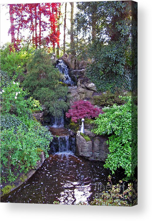 Gone Fishing Acrylic Print featuring the photograph Gone Fishing. Keukenhof Gardens. Holland by Ausra Huntington nee Paulauskaite