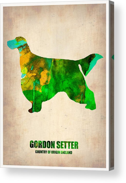 Gordon Setter Acrylic Print featuring the painting Gordon Setter Poster 2 by Naxart Studio