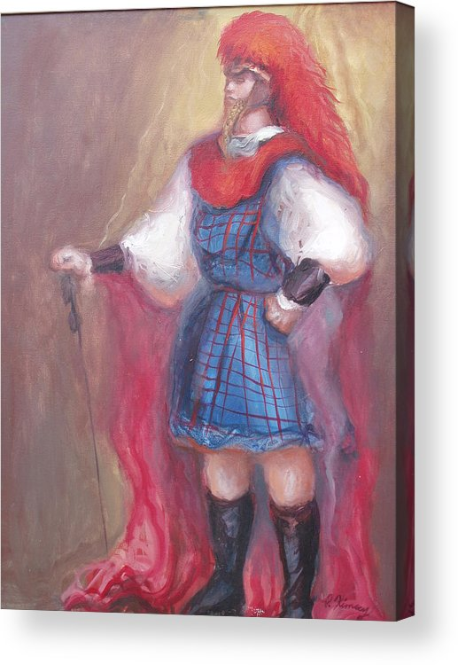 Guard Acrylic Print featuring the painting Guard Stance by Patricia Kimsey Bollinger