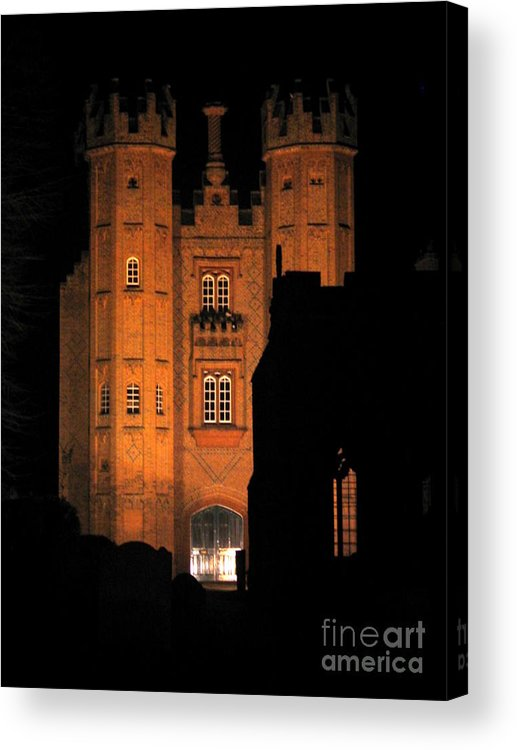 Deanery Acrylic Print featuring the photograph Hadleigh Deanery By Night by Linda Prewer