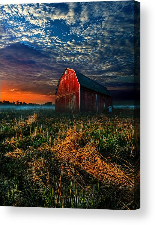Farm Acrylic Print featuring the photograph Here Comes The Light by Phil Koch