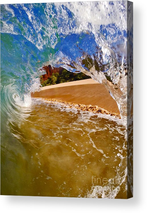 Waves Acrylic Print featuring the photograph High And Tight by Justin Barlahan