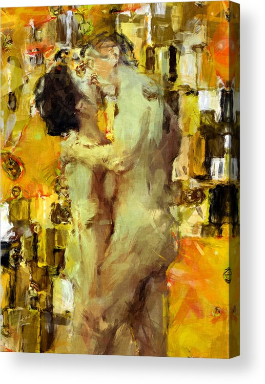 Nudes Acrylic Print featuring the photograph Hold Me Tight by Kurt Van Wagner