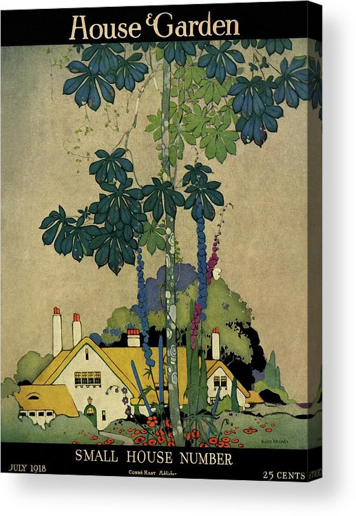 House And Garden Acrylic Print featuring the photograph House And Garden Cover by H. George Brandt