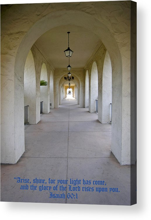 Light Acrylic Print featuring the photograph Into The Light by Rich Stedman