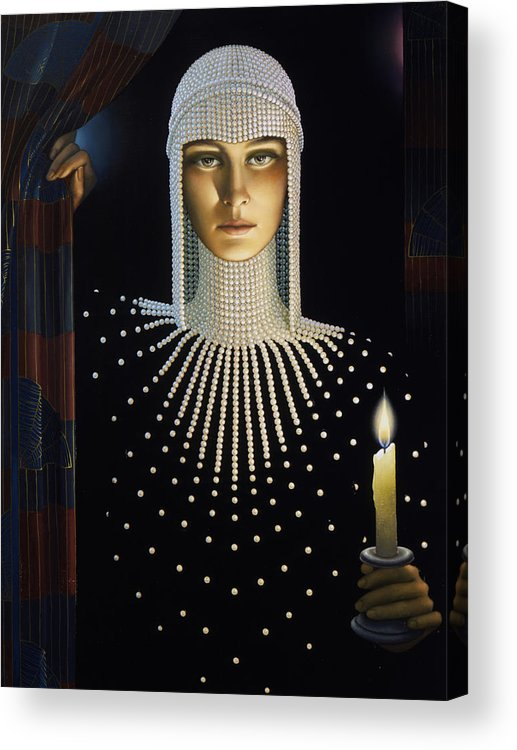 Intrique Acrylic Print featuring the painting Intrique by Jane Whiting Chrzanoska