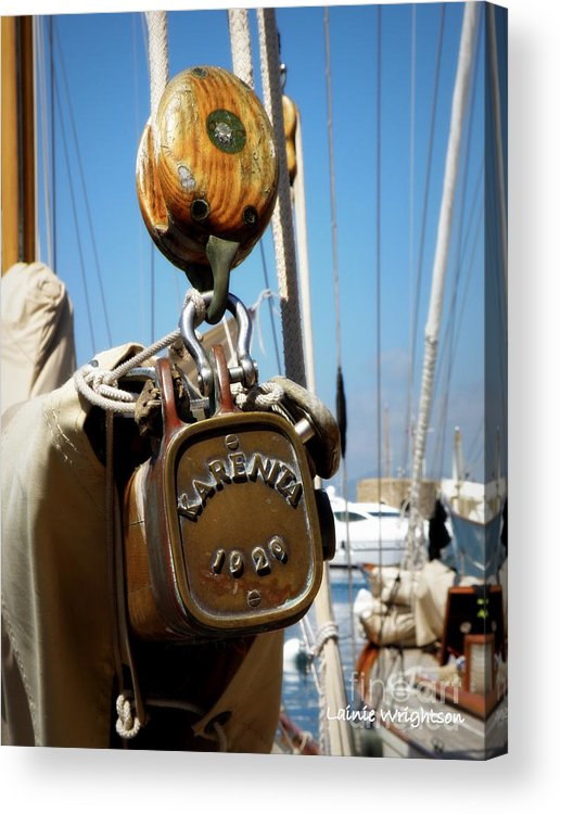 Sailing Acrylic Print featuring the photograph Karenita 1929 by Lainie Wrightson