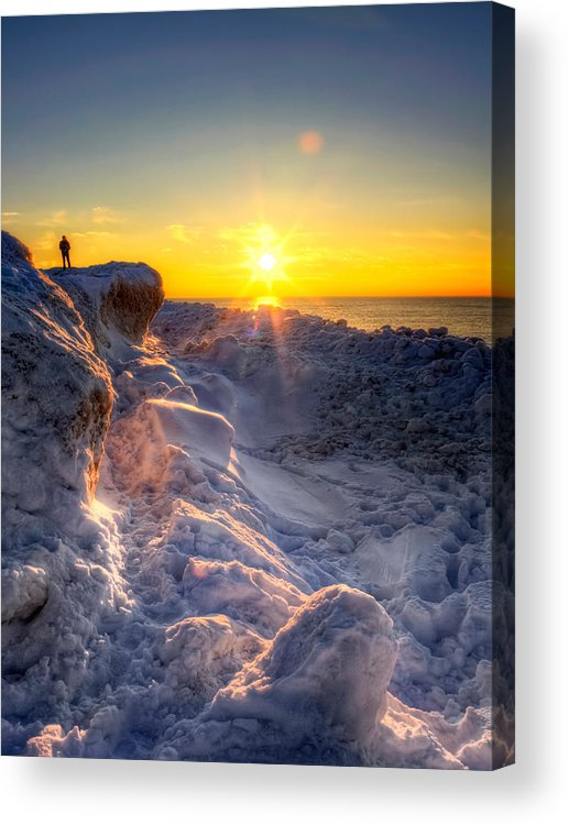 Frozen Acrylic Print featuring the photograph King Of The Hill by Jenny Ellen Photography