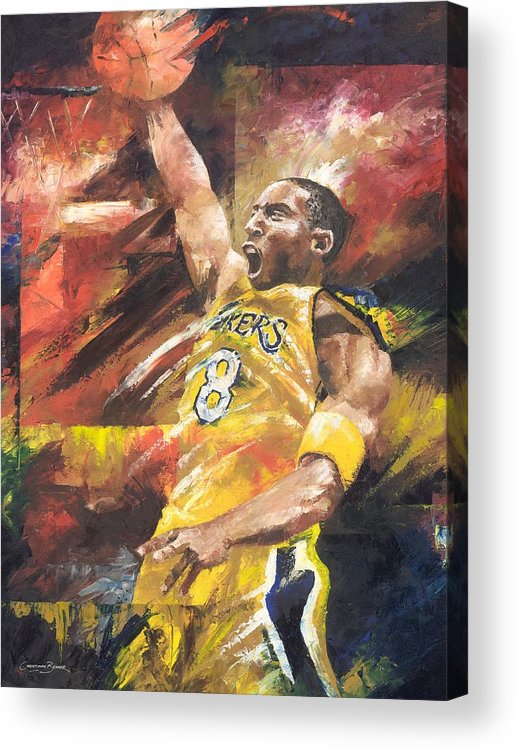 Sports Acrylic Print featuring the painting Kobe Bryant by Christiaan Bekker