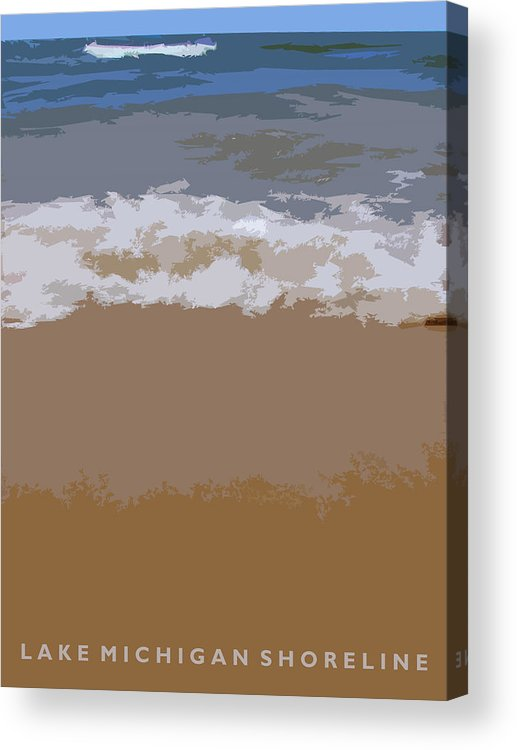 Beach Acrylic Print featuring the photograph Lake Michigan Shoreline by Michelle Calkins