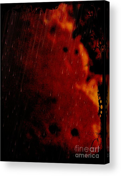 Abstract Acrylic Print featuring the mixed media Lamed by Daniel Brummitt