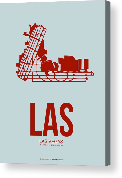 Las Vegas Acrylic Print featuring the digital art Las Las Vegas Airport Poster 3 by Naxart Studio