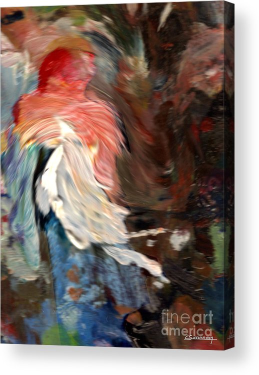 French Acrylic Print featuring the painting French Cancan Atmosphere by Christian Simonian