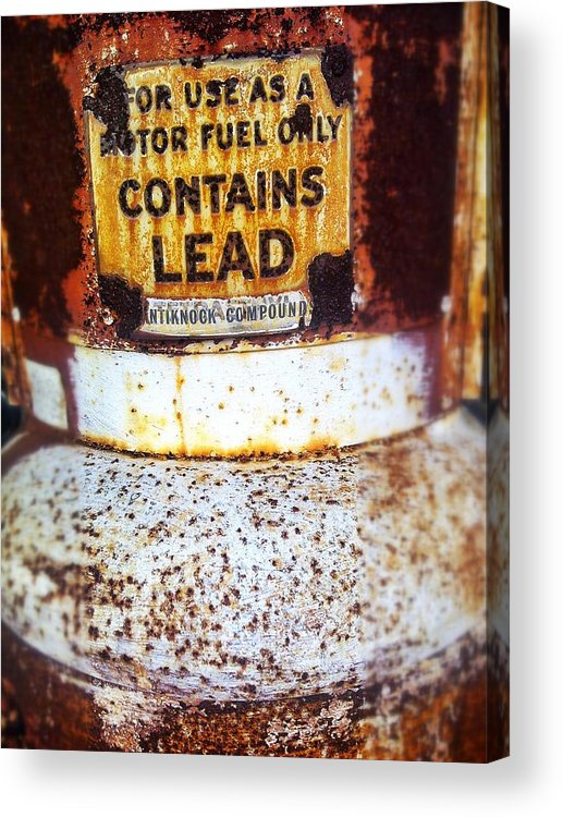 Gas Pump Acrylic Print featuring the photograph Lead Only by Olivier Calas