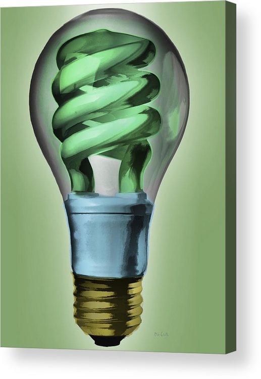 Light Acrylic Print featuring the painting Light Bulb by Bob Orsillo