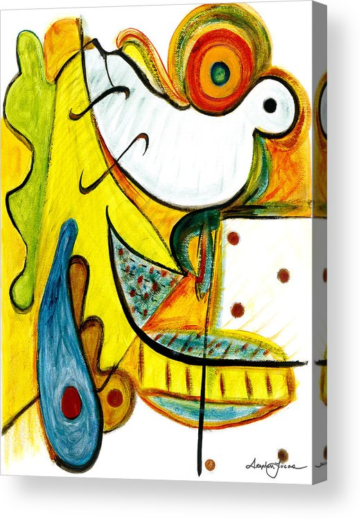 Abstract Art Acrylic Print featuring the painting Linda Paloma by Stephen Lucas