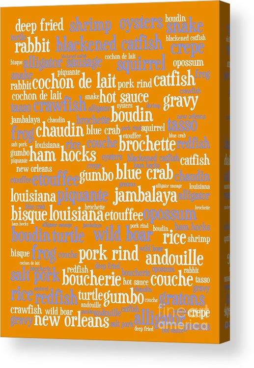 Crawfish Acrylic Print featuring the digital art Louisiana Cajun Heaven 20130625p168 by Wingsdomain Art and Photography
