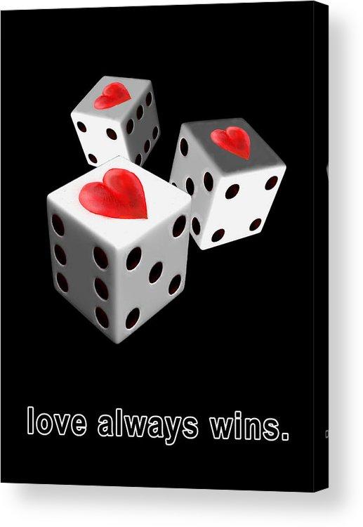 Love Acrylic Print featuring the digital art Love Always Wins by Miki De Goodaboom