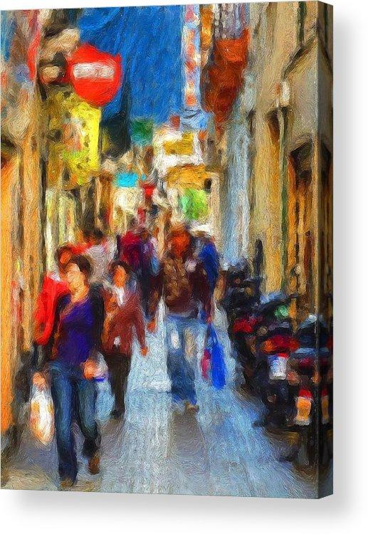 Madrid Acrylic Print featuring the digital art Madrid Shopping Spree by Cary Shapiro