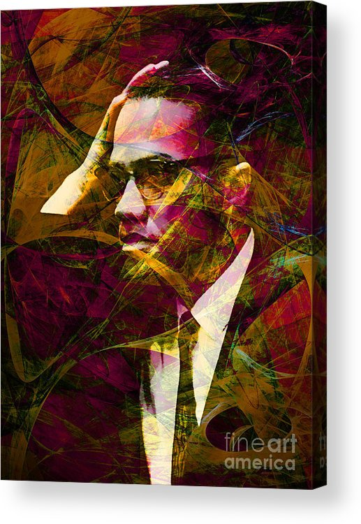 Wingsdomain Acrylic Print featuring the photograph Malcolm X 20140105 by Wingsdomain Art and Photography