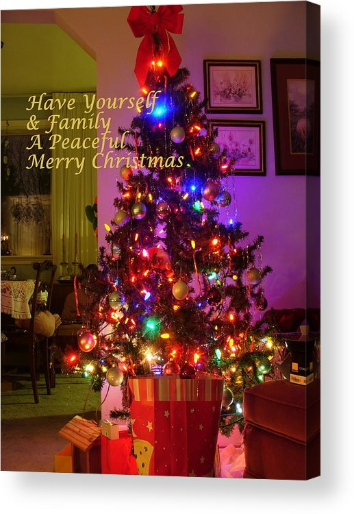 Interior Acrylic Print featuring the photograph Merry Christmas Wish by Lingfai Leung