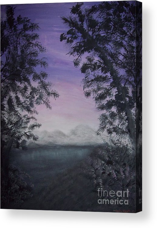 Sunsets Acrylic Print featuring the painting Minnesota Sunset by Dawn Randle