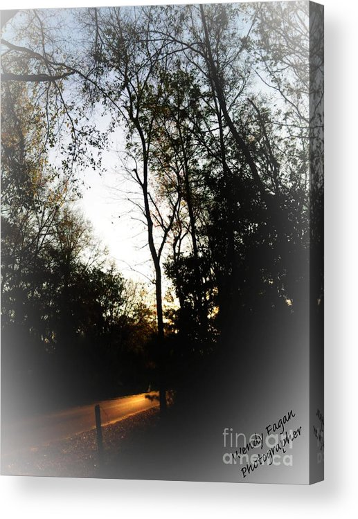 Road Way With Trees Acrylic Print featuring the photograph Morning Walk by Jeffery Fagan