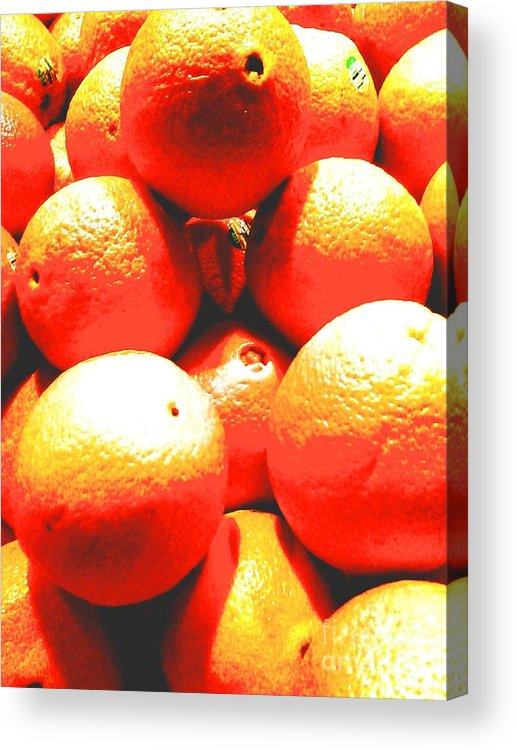 Fruit Acrylic Print featuring the photograph Navel Oranges by Linda Wild