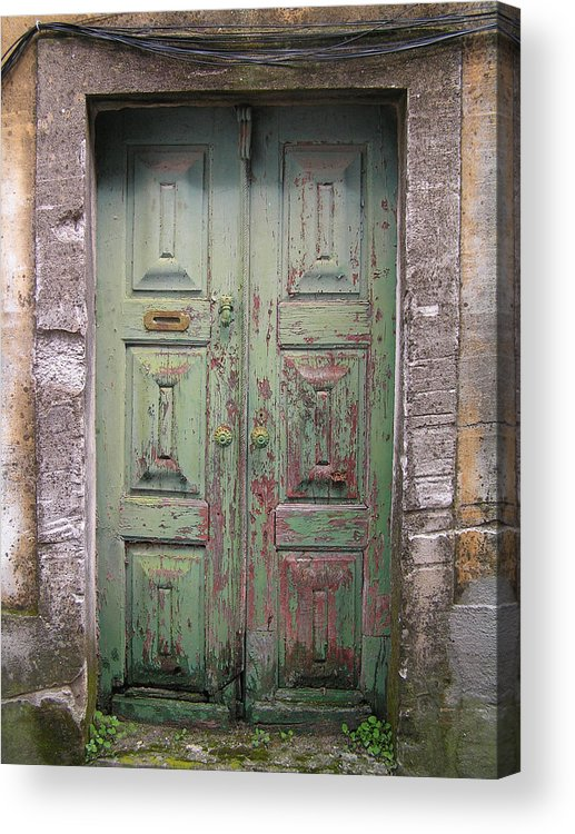 Old Door Acrylic Print featuring the photograph Old Door by Francisco Capelo