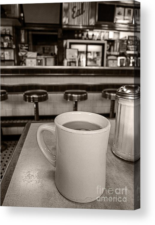 Diner Acrylic Print featuring the photograph Open All Night by Edward Fielding