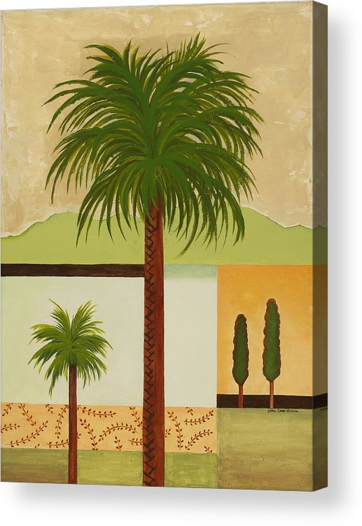 Palm Trees Acrylic Print featuring the painting Palm Desert by Carol Sabo