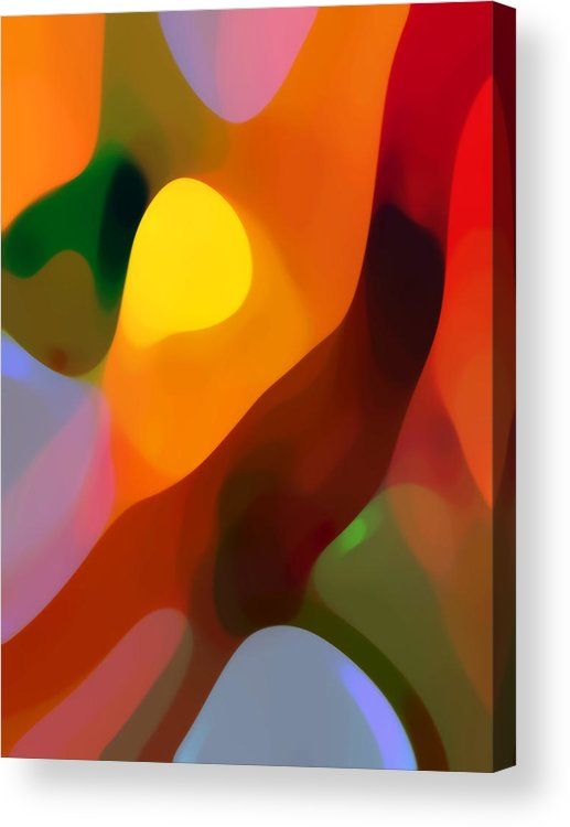 Abstract Art Acrylic Print featuring the painting Paradise Found 2 Tall by Amy Vangsgard