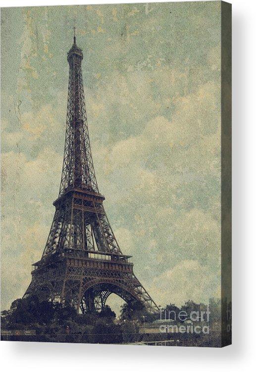 Paris Acrylic Print featuring the digital art Paris by Jelena Jovanovic