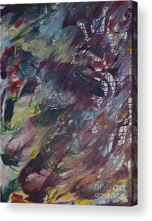 Avonelle Acrylic Print featuring the painting Plums by Avonelle Kelsey