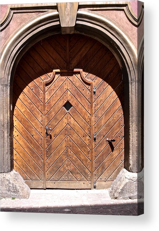 Old Door Acrylic Print featuring the photograph Praugue 2 by Just fotos By Katie Fonken