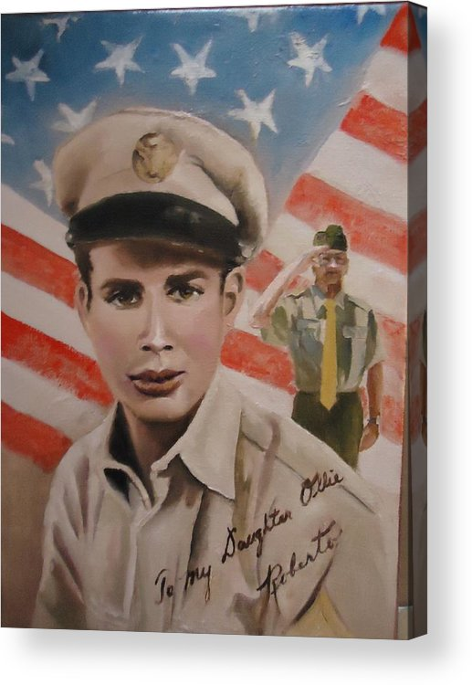 Roberto Acrylic Print featuring the painting Roberto by Luz Perez