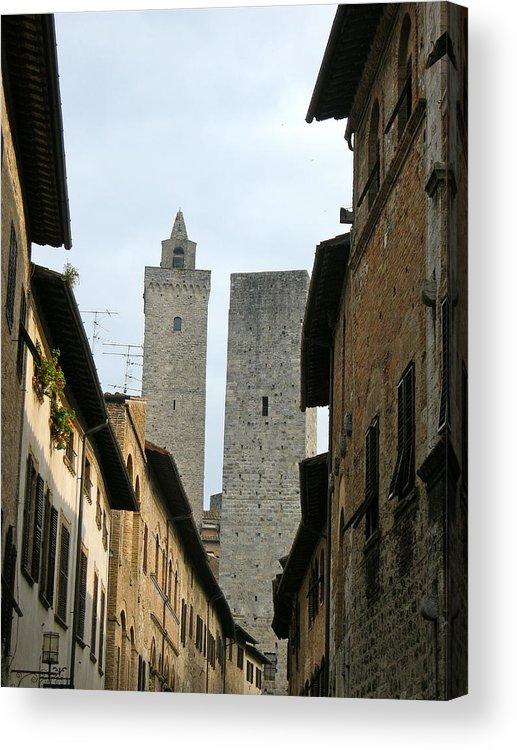 San Gimignano Acrylic Print featuring the photograph San Gimignano Italy by Victoria Lakes